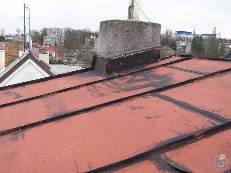 Natření střechy rodinného domu: P2052009
