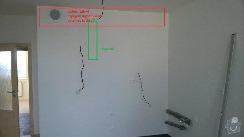 Montáž sádrokartonu, elektrikářské práce - Praha 15: stena_A_sadros