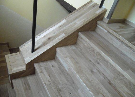 Pokládka parket + obkládání schodů