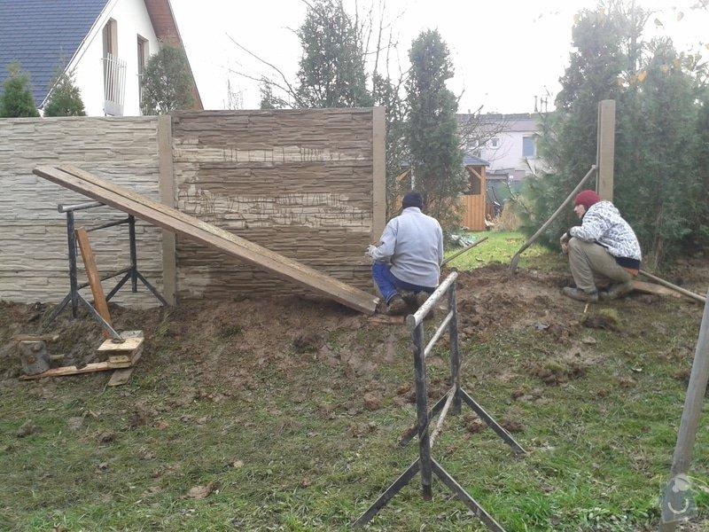 Výstavba plotu: 20141208_114549
