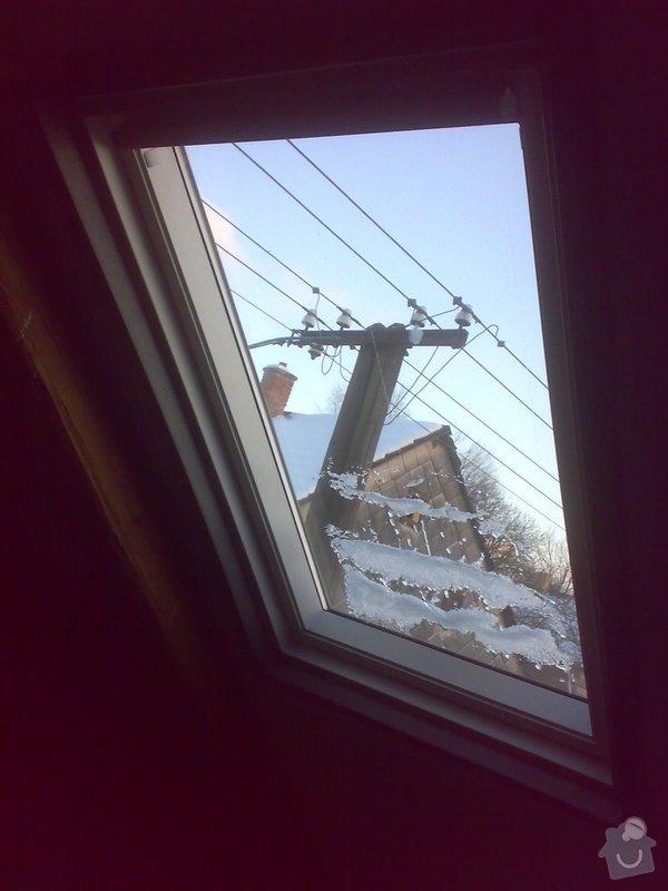 Oprava podkroví - nové schodiště, zateplení střechy, 2 střešní okna: 06022015394