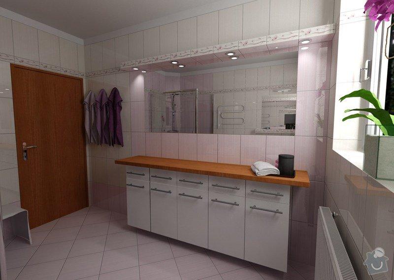 Obkladačské a zednické práce: koupelna_Orfe_pohled_dvere