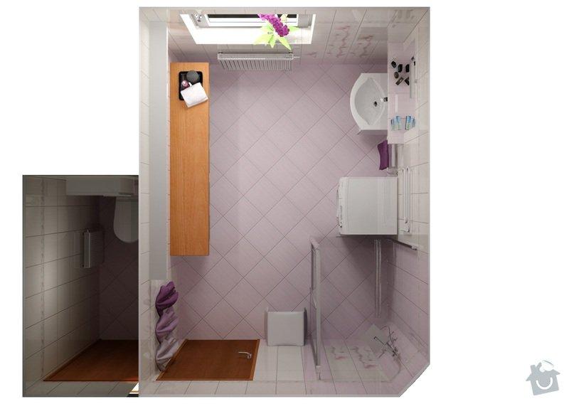 Obkladačské a zednické práce: koupelna_Orfe_pohled_shora