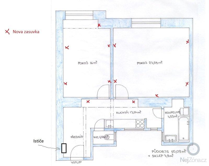 Rekonstrukce elektriny v 2 izbovom byte: elektrika