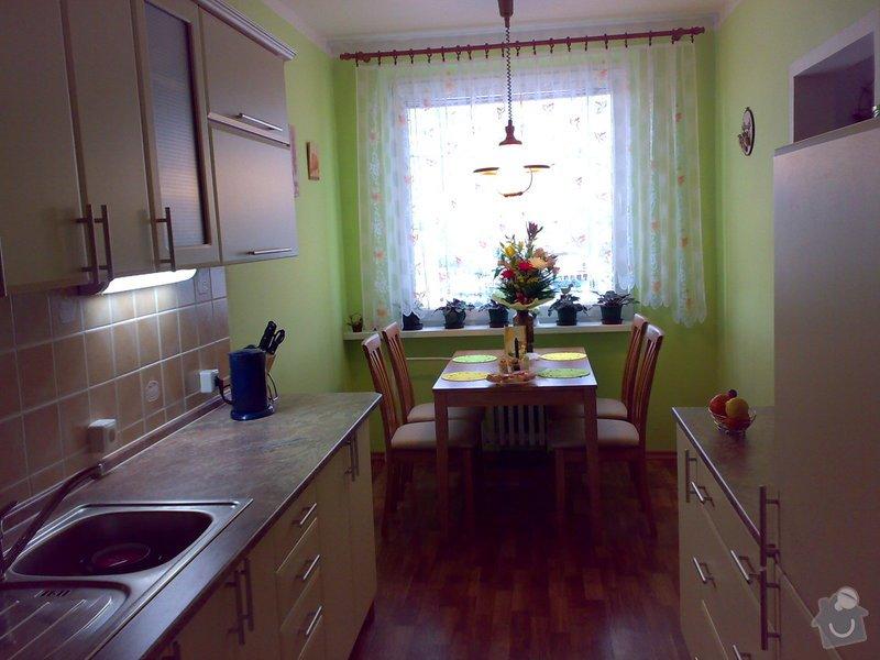 Rekonstrukce kuchyně,kuchyňská linka,lino,výmalba: 19032008079