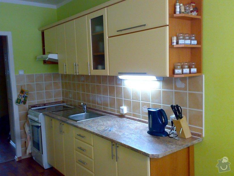 Rekonstrukce kuchyně,kuchyňská linka,lino,výmalba: 19032008080