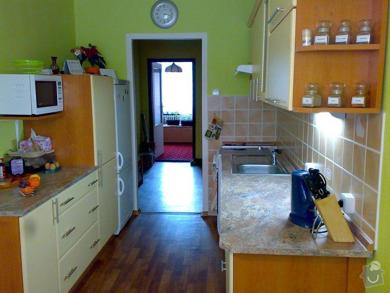 Rekonstrukce kuchyně,kuchyňská linka,lino,výmalba: 19032008082