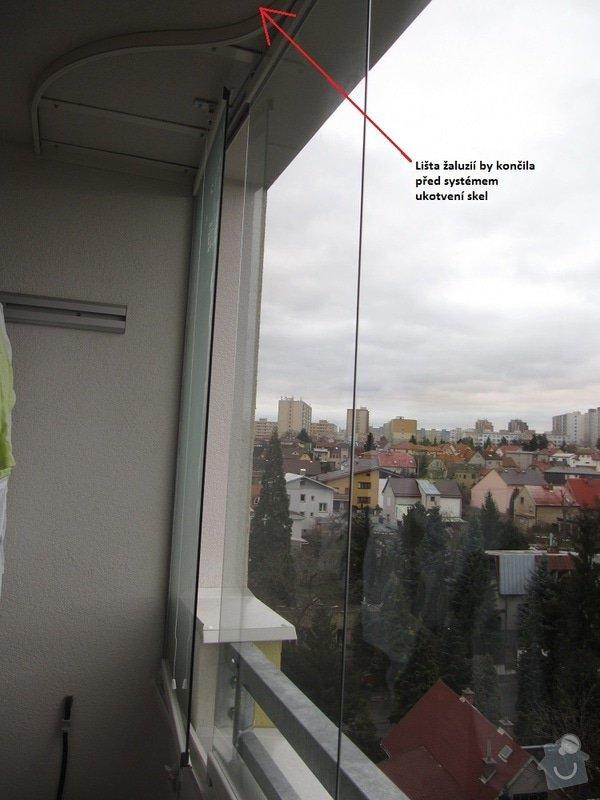 Vertikální žaluzie na zasklený balkon: leden_2015_059