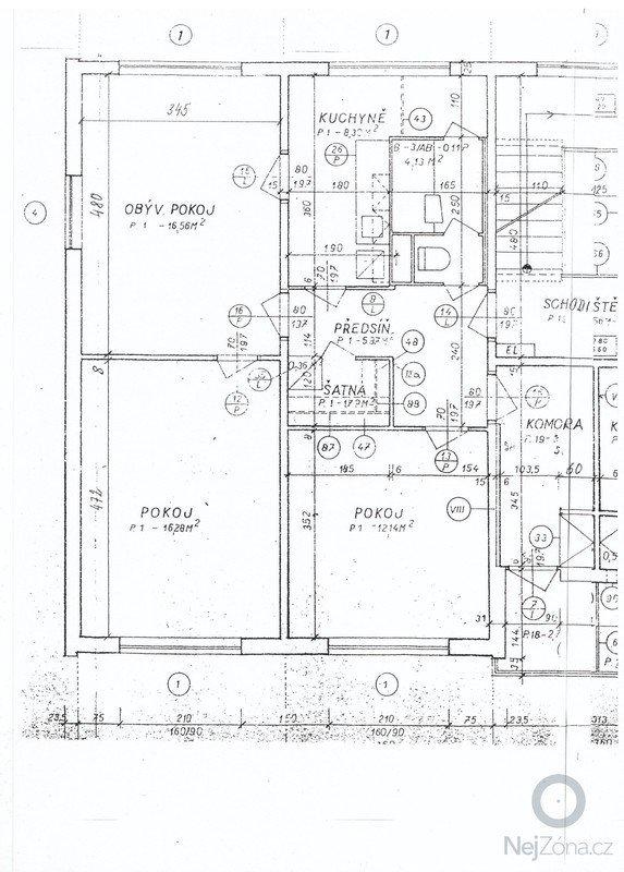Omítky (panelákový byt 3+1): planek_bytu
