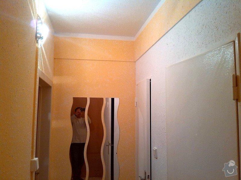 Nástřik chodby, oprava koupelny po vytopení: Nastrik_Gotele_do_predsine_zluto-oranz_3_