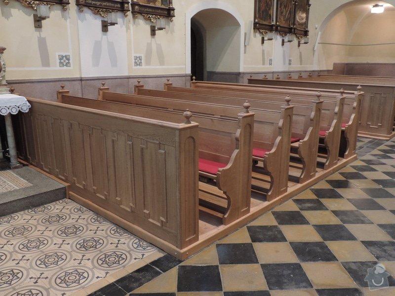 Výroba a montáž kostelních lavic: Nove_lavice-prave_oddeleni