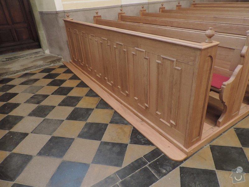 Výroba a montáž kostelních lavic: Nova_lavice-celni_panel