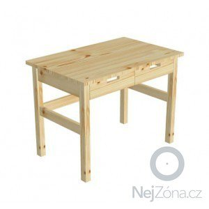 Pracovní stůl z masivu 2 ks: stul