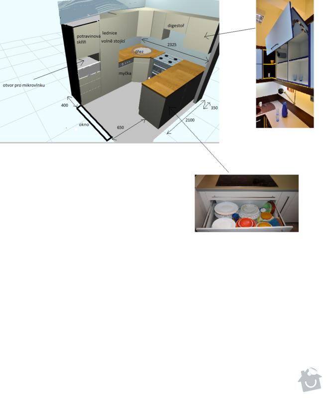 Výroba a montáž kuchyňské linky: kuchyne_navrh