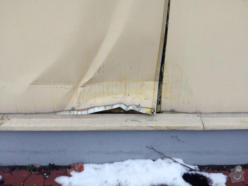 Klempířské práce - oprava nabourané fasády: IMG_20150209_155855
