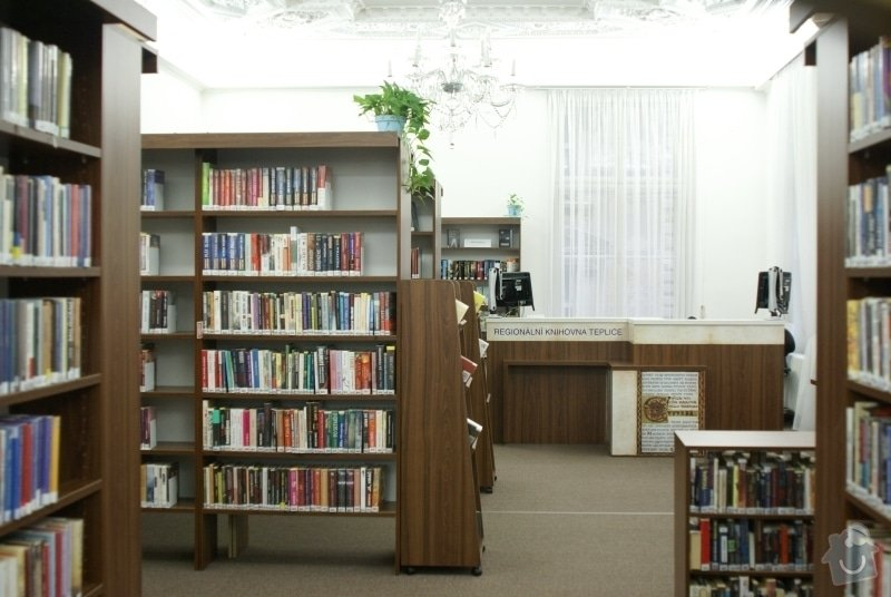 Vyčištění štukové výzdoby a výmalba + fasáda objektu knihovny : Regionalni_knihovna_Teplice_vymalba_7.20141.1