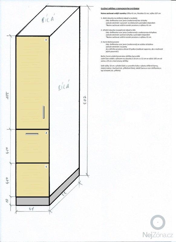 Zhotovení nábytku do obývacího pokoje a kuchyně: Ulozna_skrinka_s_odpadkovym_systemem