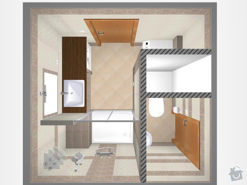 Kompletní rekonstrukce bytového jádra, chodby, kuchyně: 3D-01