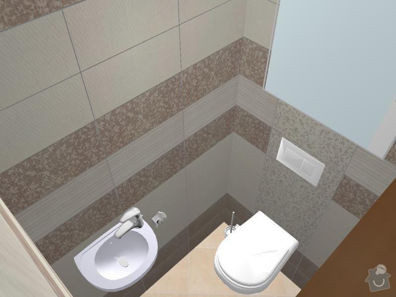 Kompletní rekonstrukce bytového jádra, chodby, kuchyně: 3D-02