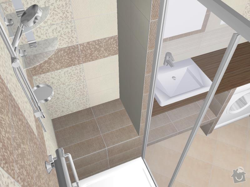 Kompletní rekonstrukce bytového jádra, chodby, kuchyně: 3D-07