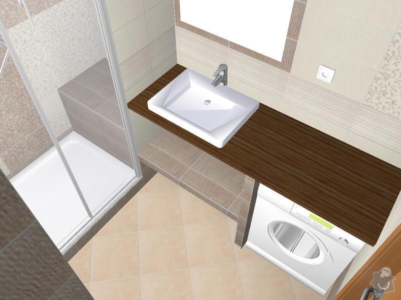 Kompletní rekonstrukce bytového jádra, chodby, kuchyně: 3D-05