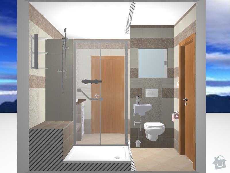 Kompletní rekonstrukce bytového jádra, chodby, kuchyně: 3D-12