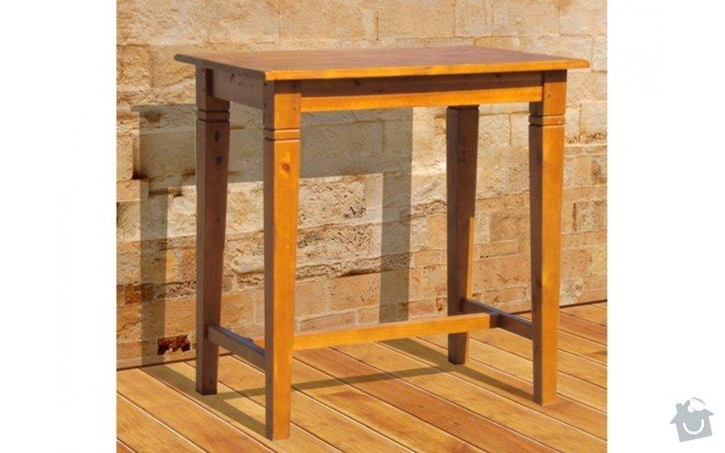 Dřevěný barový jídelní stůl: barovy_stul