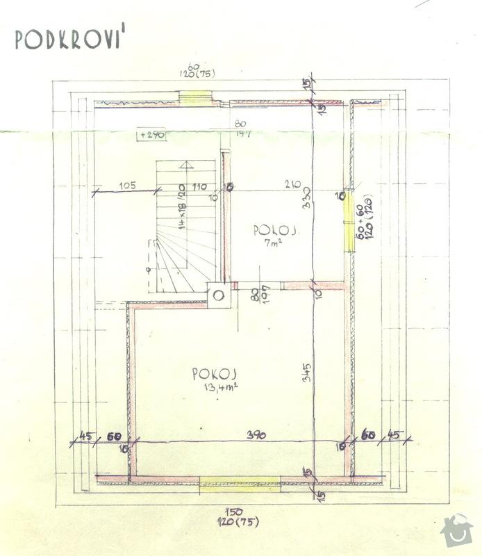 Foukaná minerální izolace podlahy : chaloupka_podkrovi