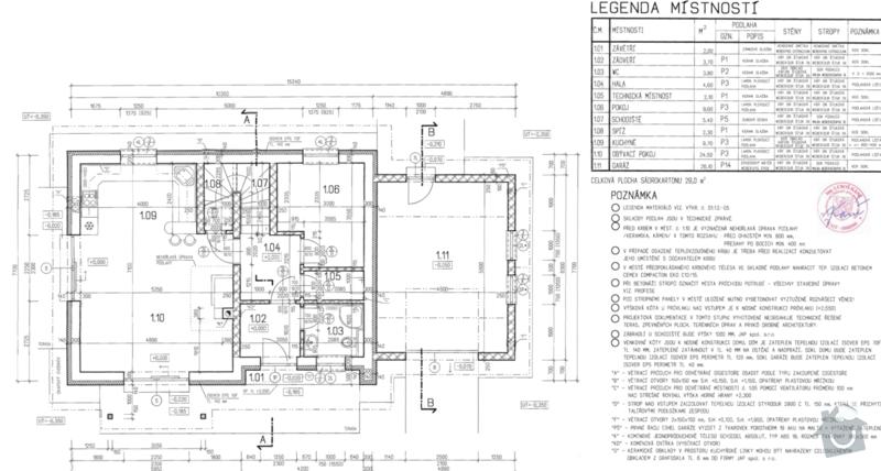 Podlahove topeni a rozvody vody v novostavbe rodinneho domu: prizemi