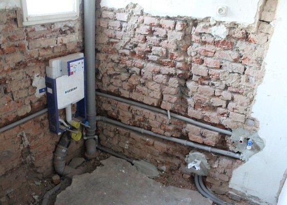 Nový rozvod vody, kanalizace, plynu a topení