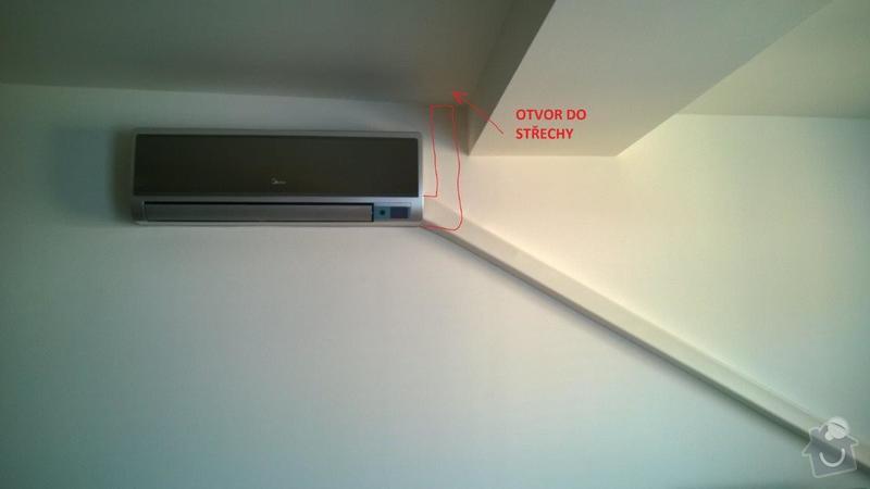 Přesunutí klimatizační jednotky z balkonu na střechu: KLIMATIZACE1