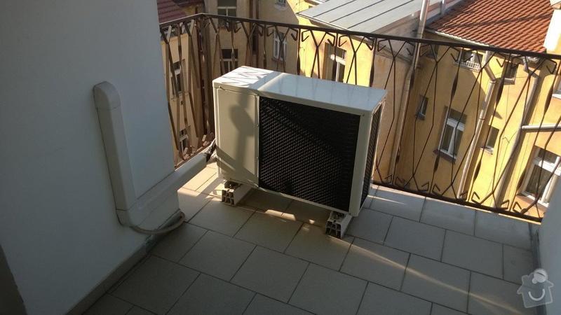 Přesunutí klimatizační jednotky z balkonu na střechu: KLIMATIZACE3