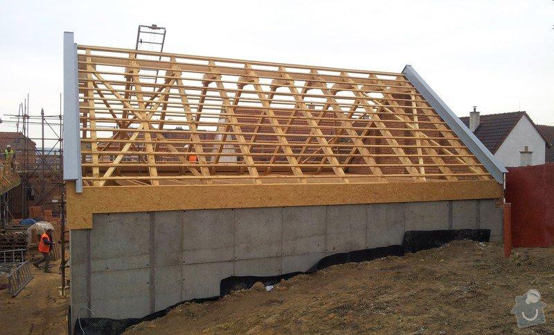 Novostavba střechy chráněného bydlení Brumovice: 20140306_080141