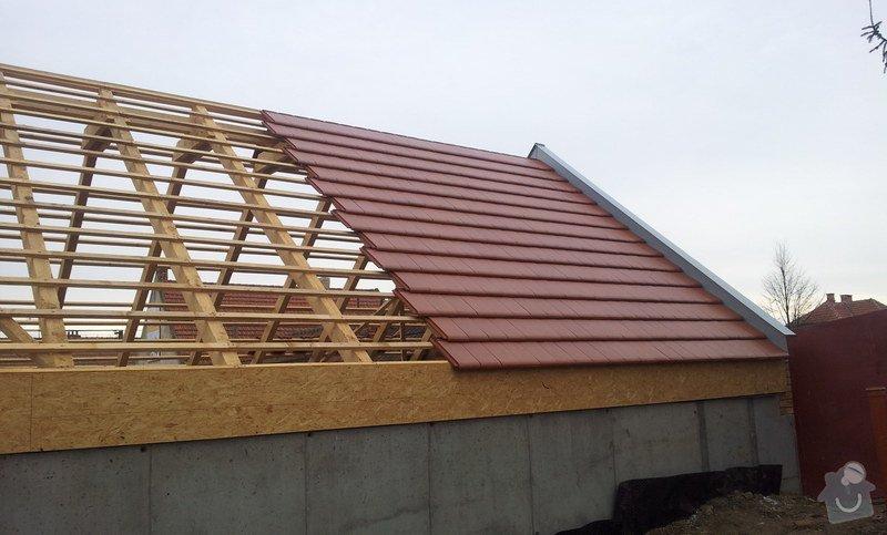 Novostavba střechy chráněného bydlení Brumovice: 20140306_090318