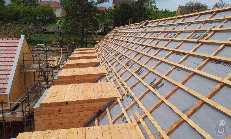 Novostavba střechy chráněného bydlení Brumovice: 20140425_140559