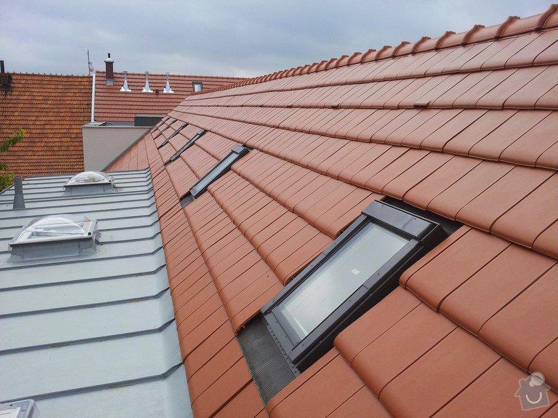 Novostavba střechy chráněného bydlení Brumovice: 20140729_092525