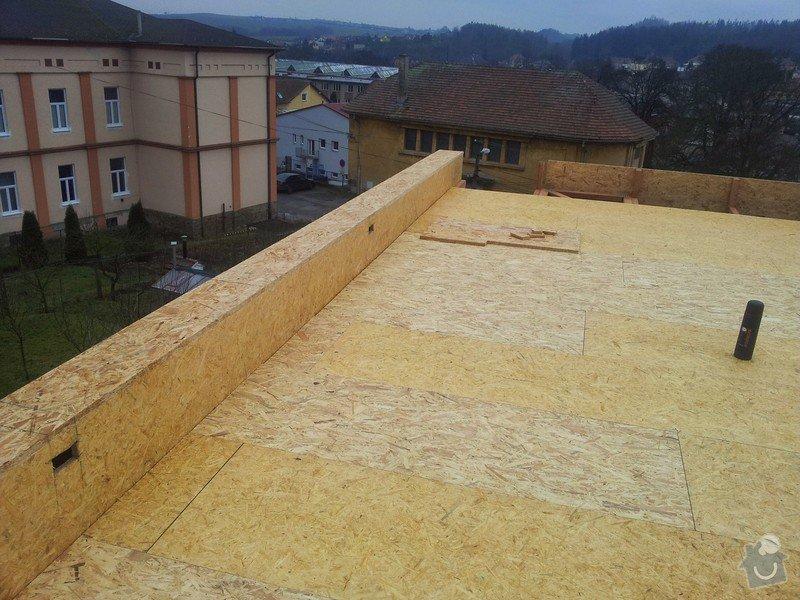 Rovná střecha RD: 20150123_135425