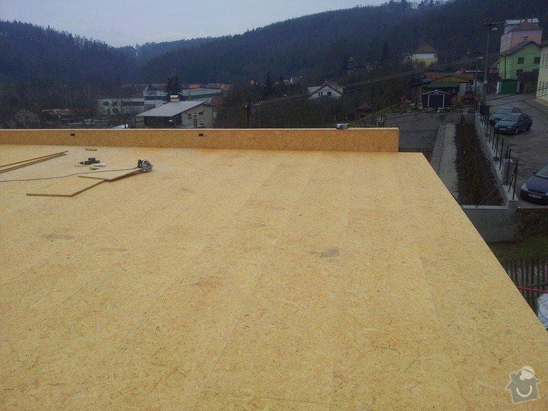 Rovná střecha RD: 20150123_135432