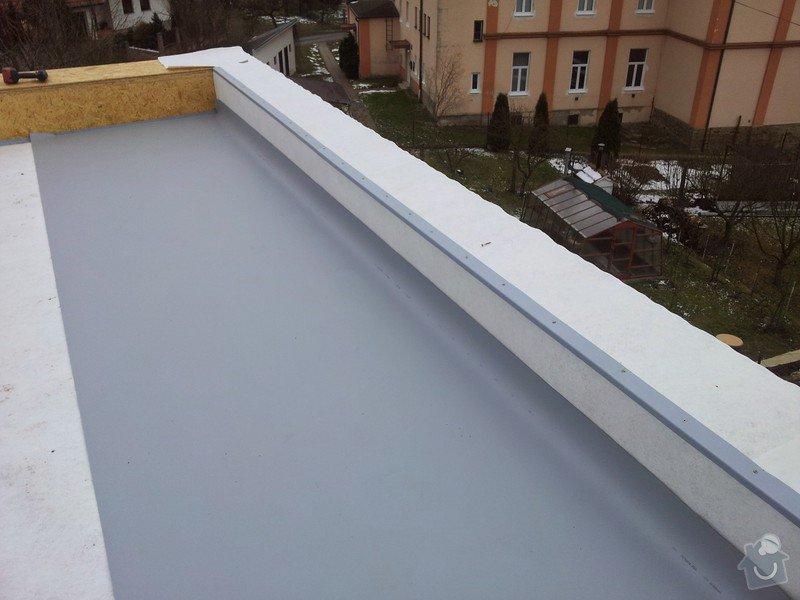 Rovná střecha RD: 20150128_110724