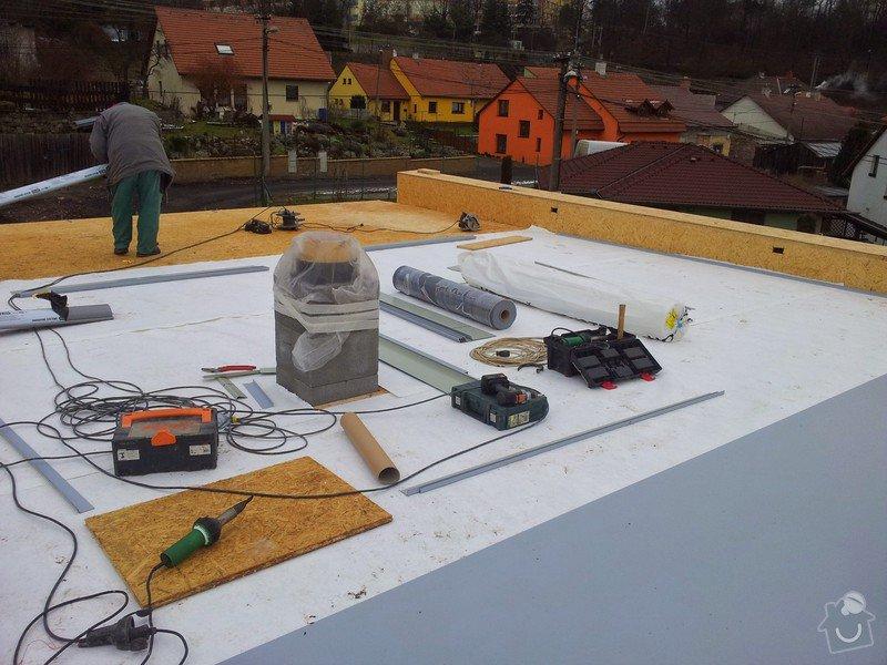 Rovná střecha RD: 20150128_110735