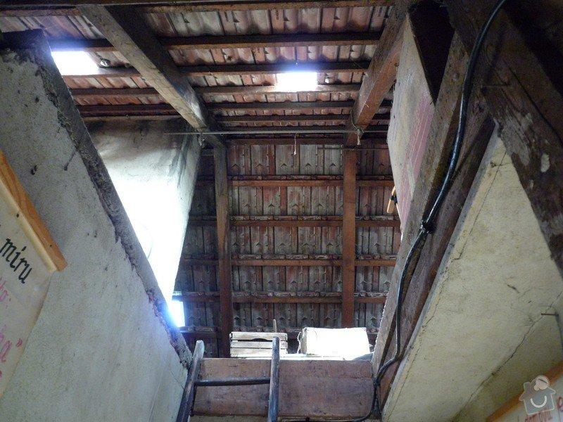 Oprava střechy RD: vnitrek