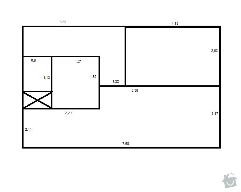 Kuchyňská linka: byt_plan