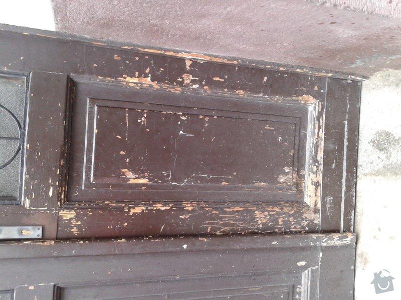 Renovace vstupních dveří do domu:: detail_dvere