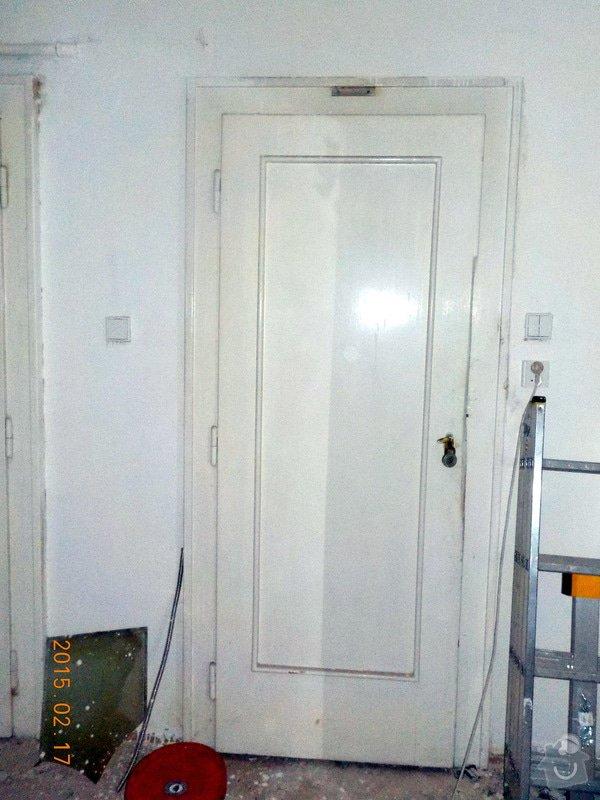 Natěr vnitřnich dveří bytu: 2-052