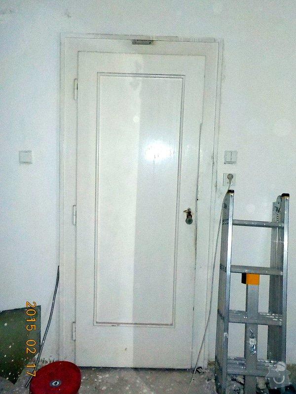 Natěr vnitřnich dveří bytu: 3-050