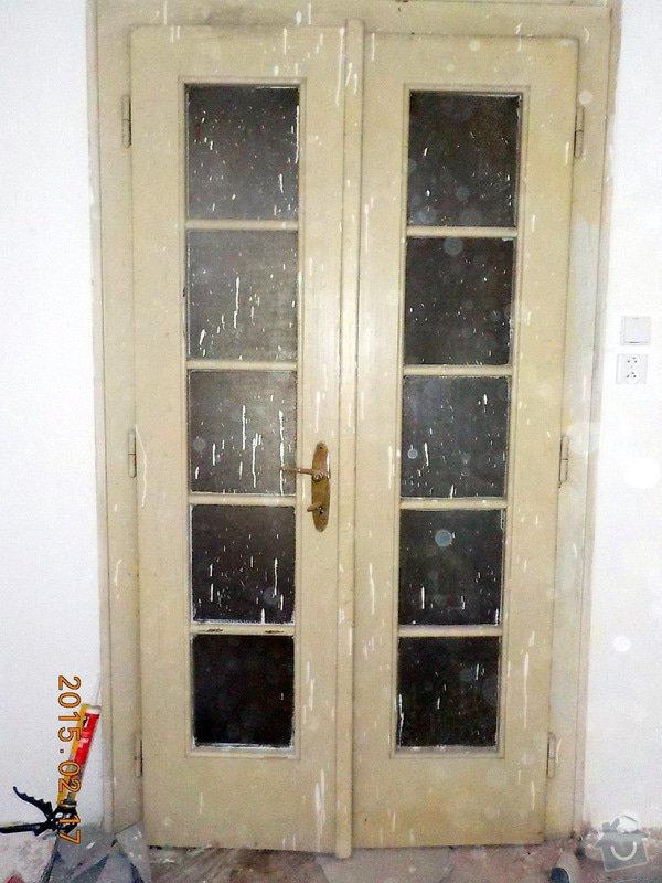 Natěr vnitřnich dveří bytu: 4-049