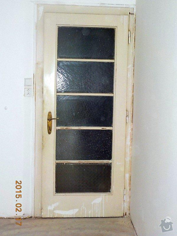 Natěr vnitřnich dveří bytu: 5-048