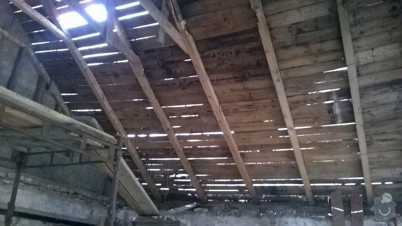 Rekonstrukce  střechy: WP_20140707_001