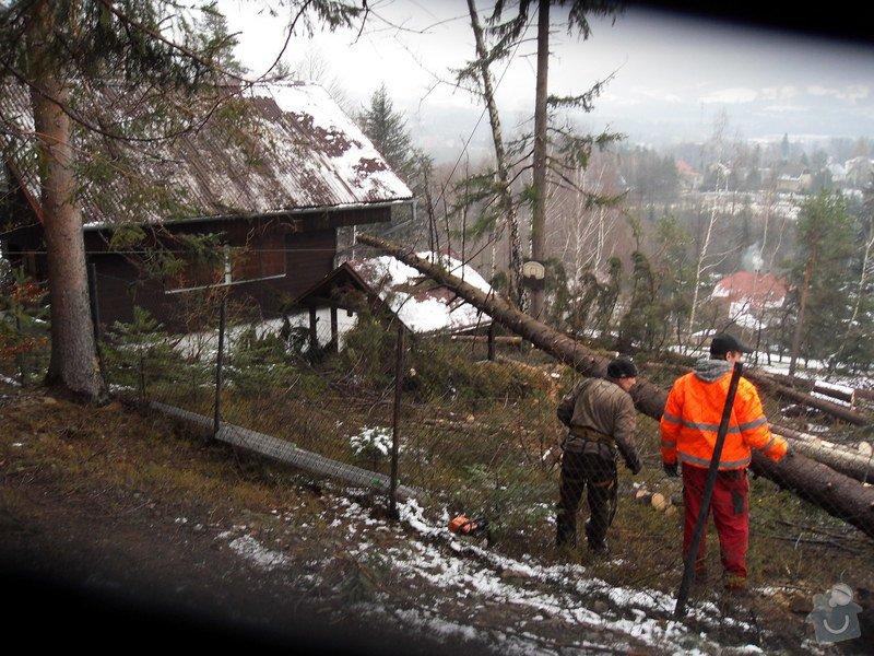Oprava střechy po pádu stromu na chatě ve Frýdlantě nad Ostravicí: SDC13115