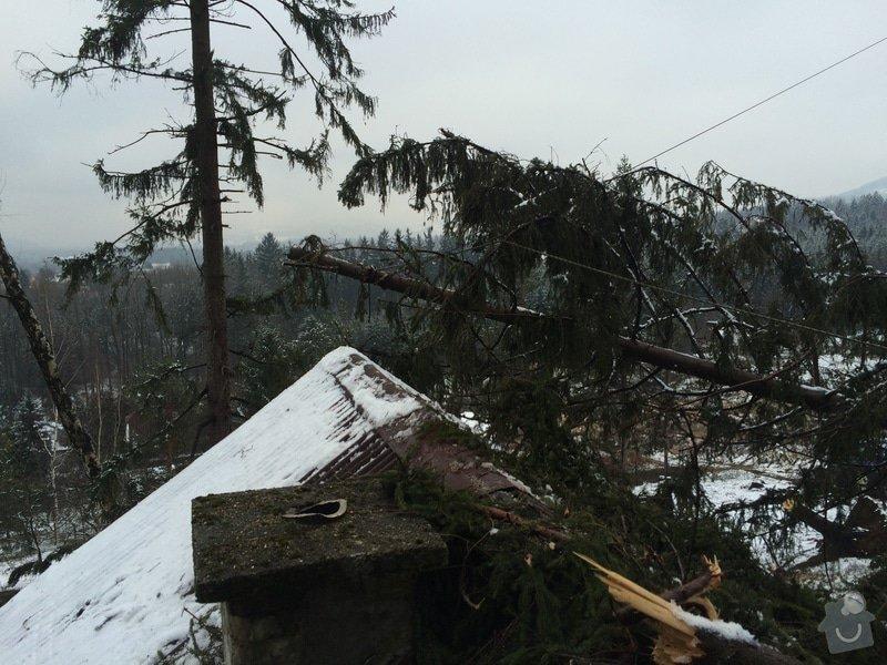 Oprava střechy po pádu stromu na chatě ve Frýdlantě nad Ostravicí: IMG_0835